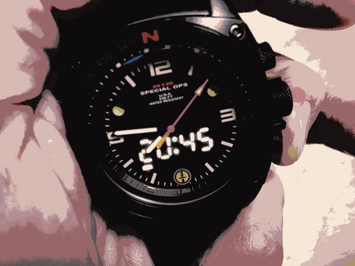 MTM Special Ops Silencer Watch, Hidden Digital Clock