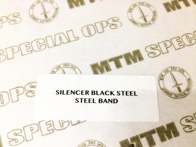 MTM Special Ops Silencer Black Steel Band