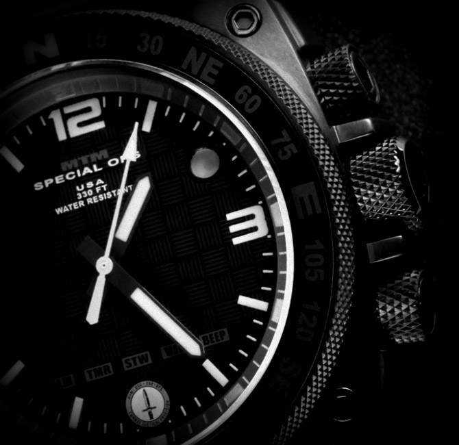 MTM Special Ops Silencer Watch; Black, Rugged